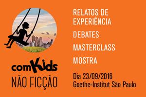 Banner de inscrição do evento comKids não ficção