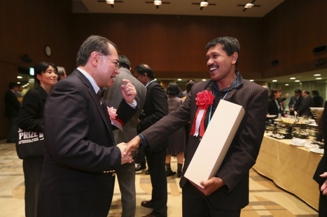 japan prize_happy winner of proposal (Sri Lanka)